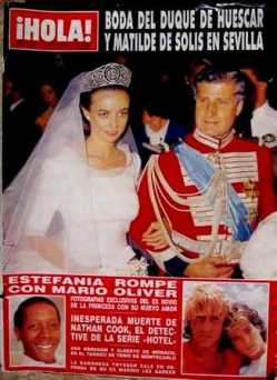 hola magazine wedding duke of aliaga