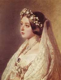 Queen victoria wedding closeup