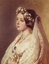 Queen victoria wedding closeup