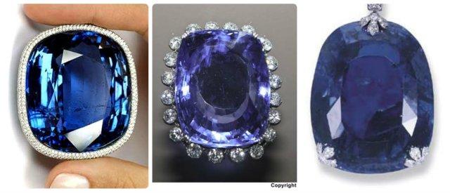 three largest sapphires