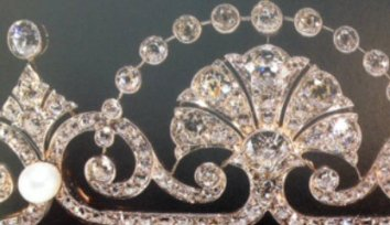 lotus flower tiara closeup