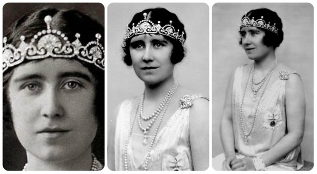queen mum in lotus flower tiara