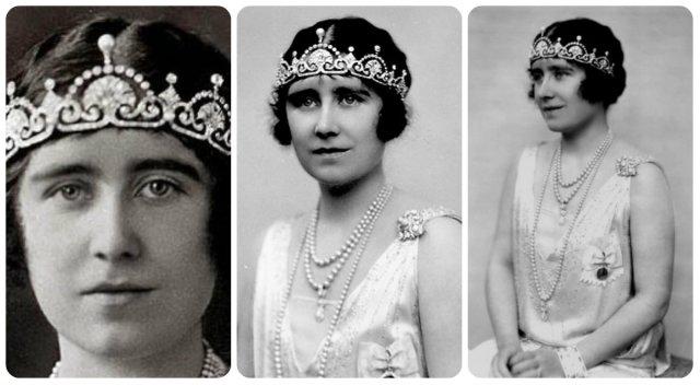 queen mum in lotus flower tiara