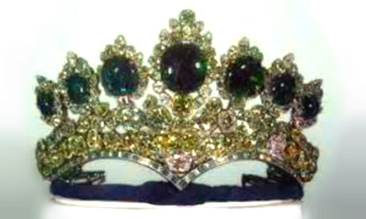 7 emerald tiara of Iran