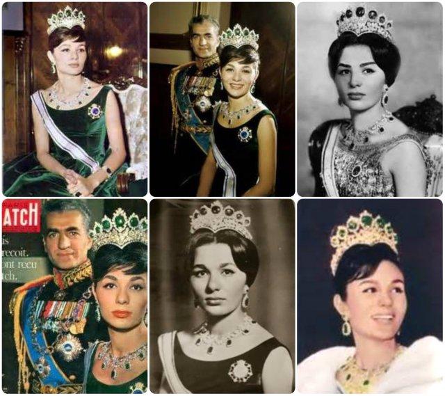 empress farah's seven emerald tiara