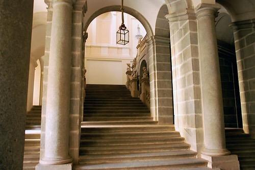 staircase inside Palacio Riofrío