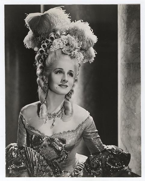 """Norma Sheerer as """"Marie Antoinette"""" in 1938"""