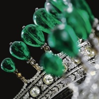 tiara time! Princess Katharina Henckel von Donnersmarck's Emerald Circlet