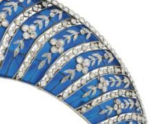 westminster blue enamel kokoshnik tiara