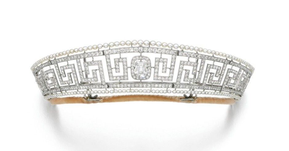 Lady Allen's Greek Key Tiara