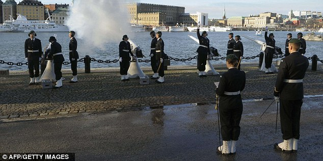 21 gun salute for Princess Estelle's birth in 2012