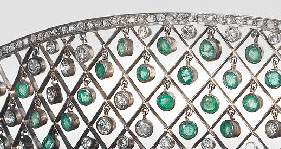 close-up of the carrington tiara