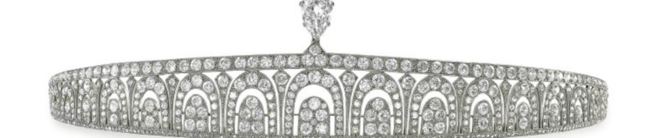 cartier art deco tiara, 1920
