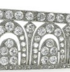 close-up of cartier art deco bandeau arches