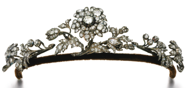 three rose diamond tiara