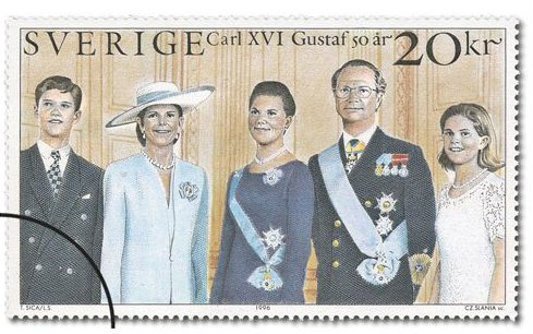 1996 Swedish Royal Family Stamp