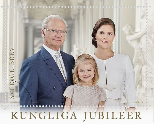 king of sweden 70th and heiresses.jpg