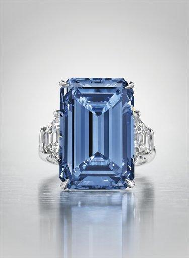 the Oppenheimer Vivid Blue Diamond